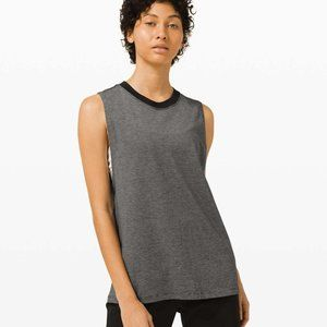 Lululemon ALL YOURS TANK micro stripe black nwt 12